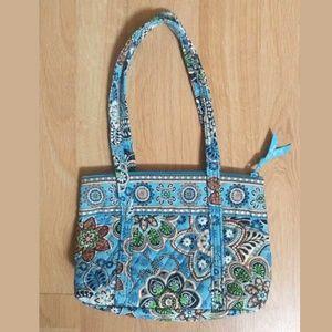 Vera Bradley Light Blue Paisley Floral Print Bag